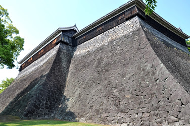 typical stone wall of Japanese Castle