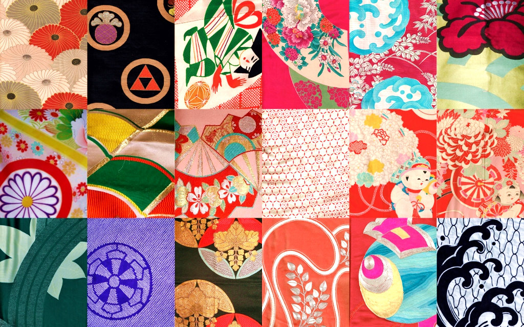 Typical Japanese colors in patterns