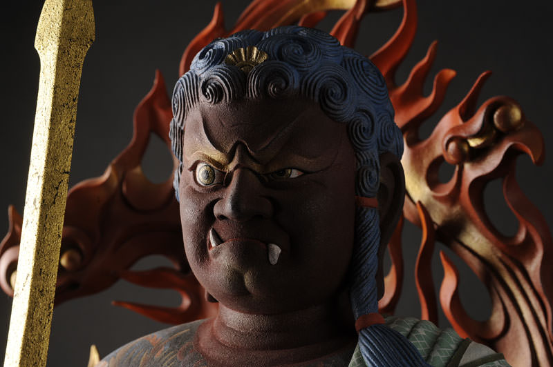 Fudo-Myouou is the deity which represents the Fudoshin in the buddhism