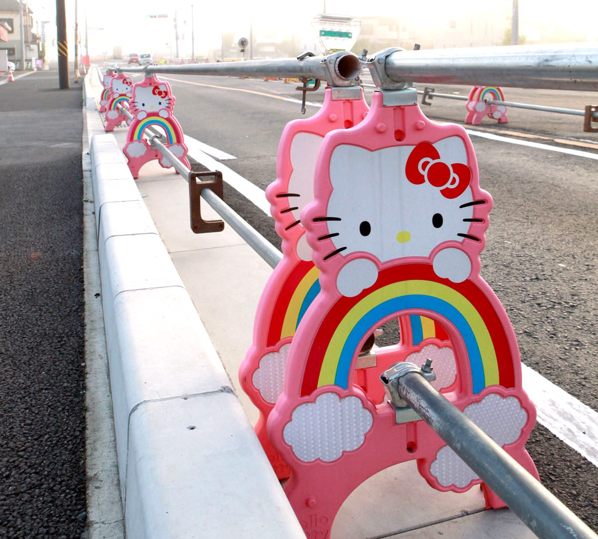 You can find Kawaii things everywhere in Japan, even in construction site
