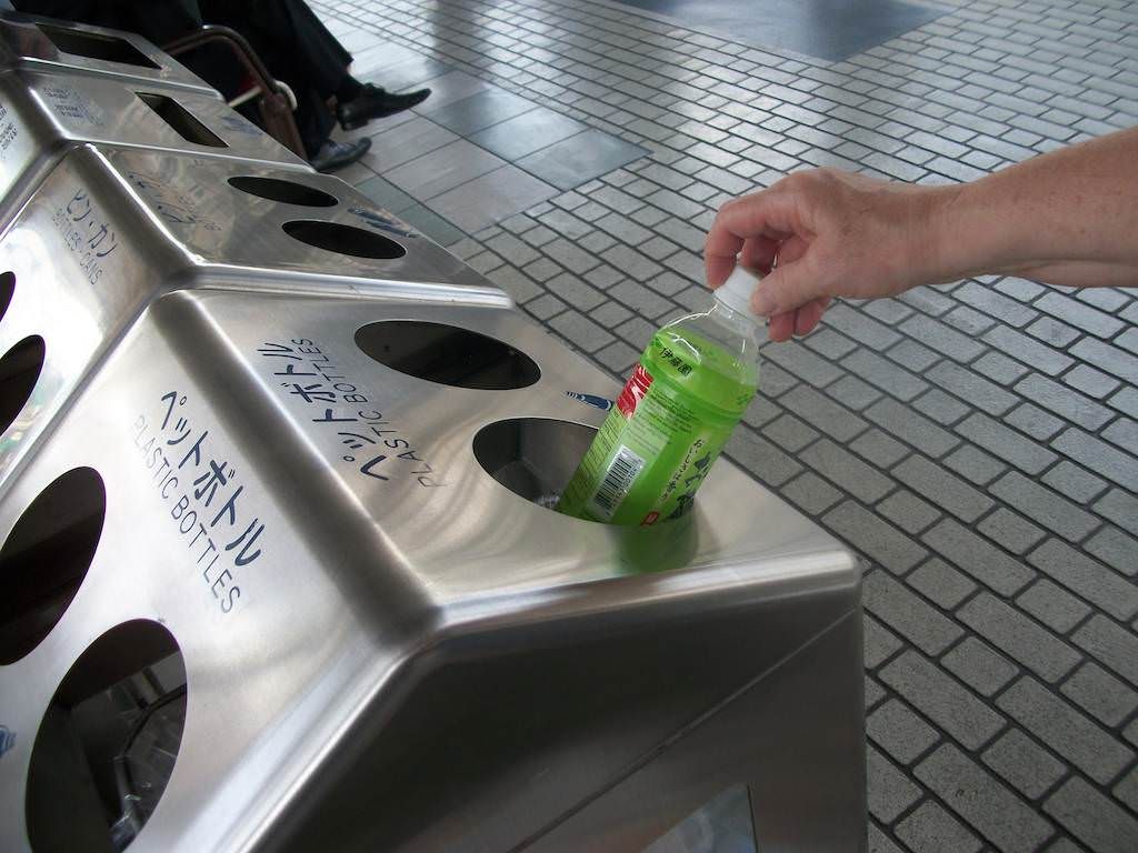 Japan is the leading country of recycling in the world