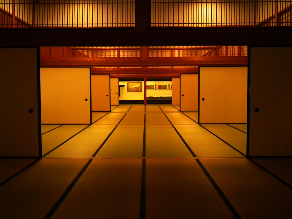 Traditional Japanese rooms shows clear separtion of Uchi and Soto