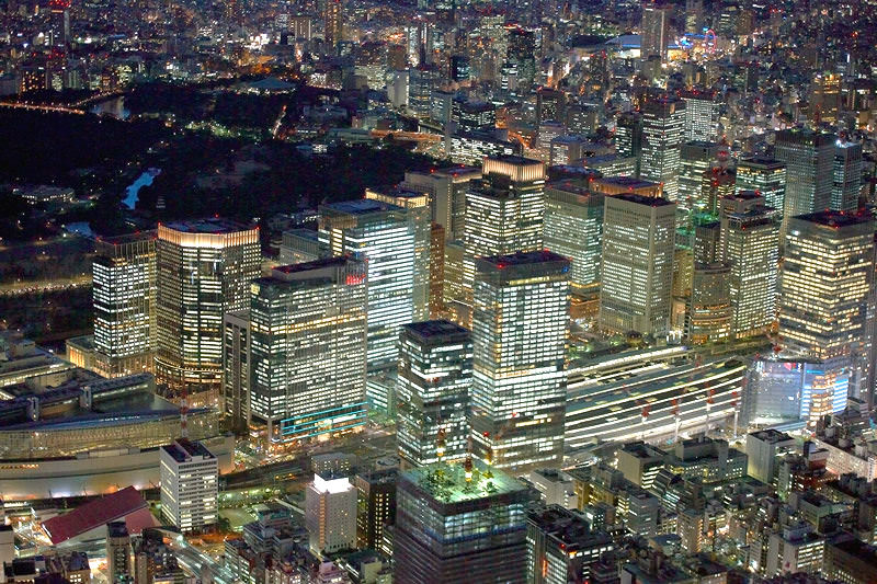 Sky View of Tokyo Station