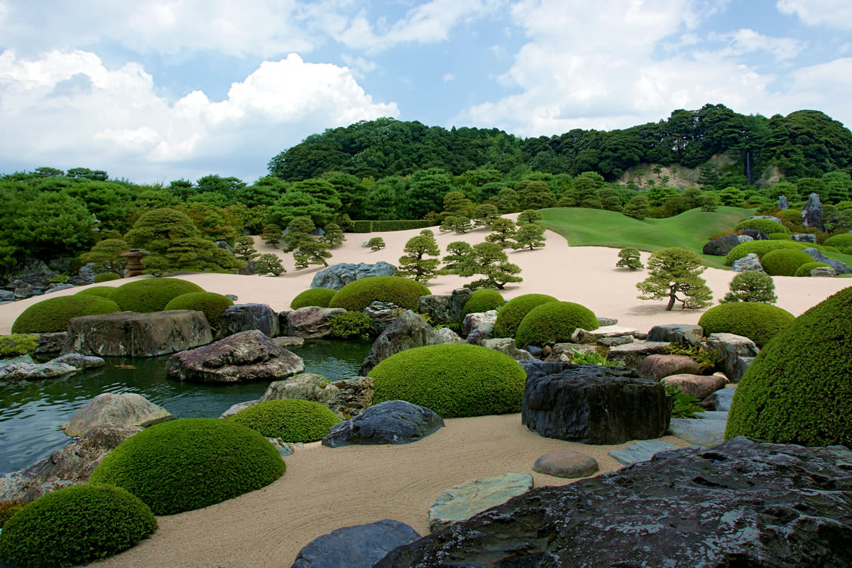 Japanese Garden in the Adachi Museum of Art