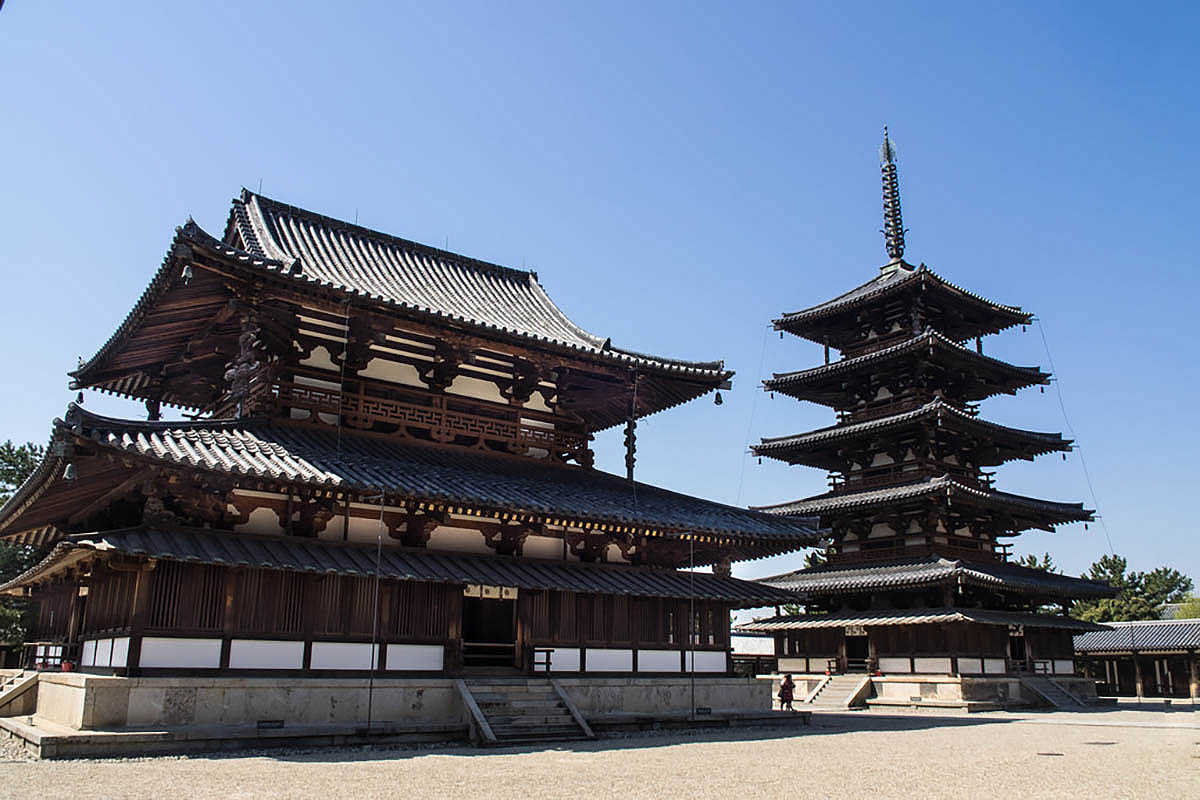 Horyuji-temple, the oldest wooden building in the world