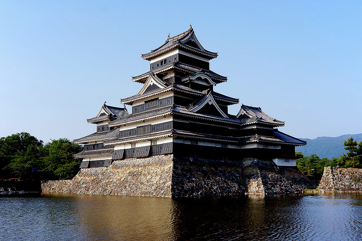Matsumoto castle, one of the famous fortress of the feudal samurai warlord
