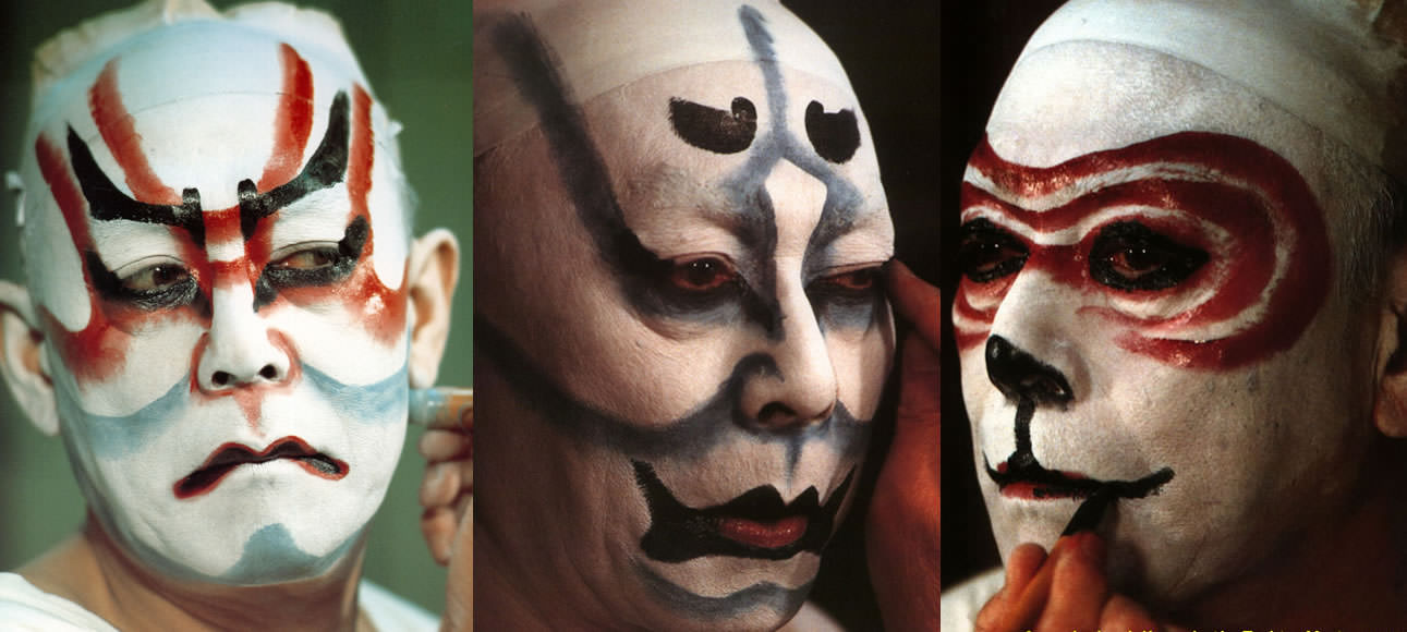Traditional Kabuki make-up 'Kumadori'