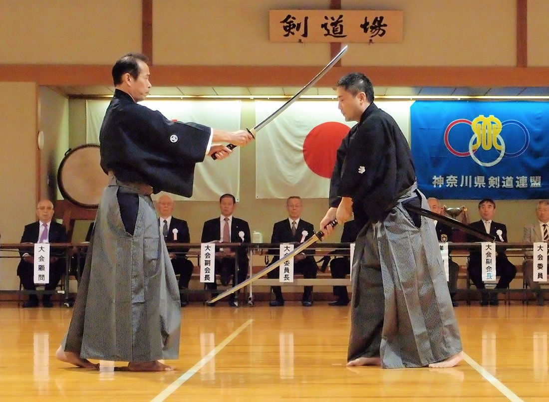 Kendo Masters showing Kata demonstration