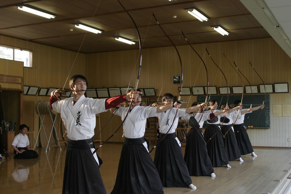 Kyudo Practice in the School Club