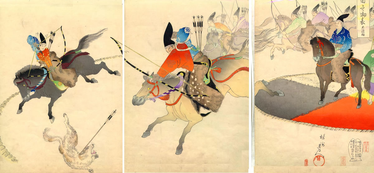 Kyudo Hunting by Samurai in the Muromachi Period