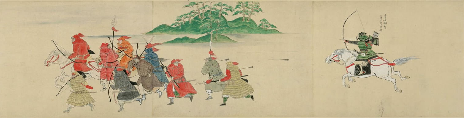 Samurai using Japanese Bow Wakyu fighting against Mongolian Army
