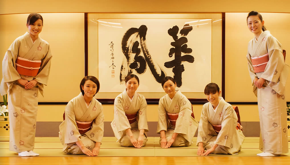 Hospitality of Omotenashi in Ryokan inn