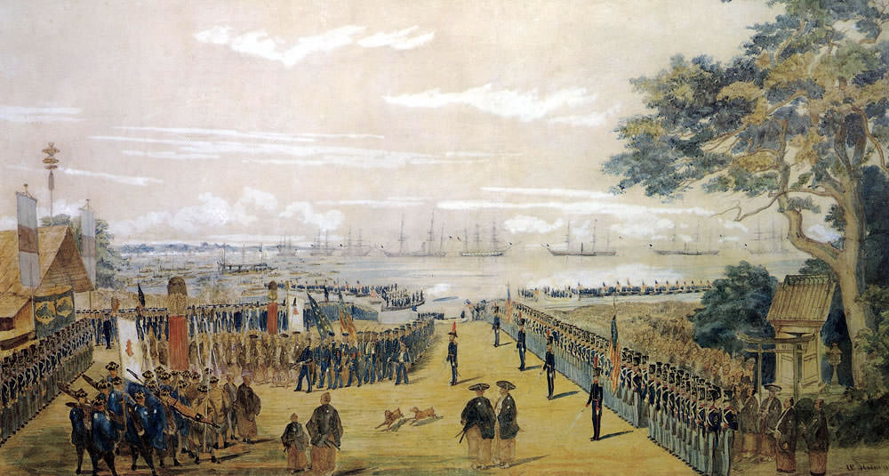 Landing of U.S. Commodore Perry at Yokohama, 8 March 1854