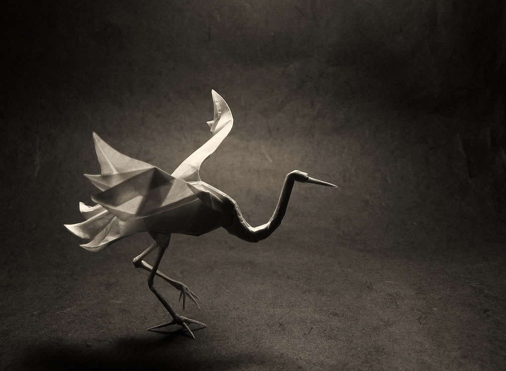 Modern and Artistic style of Origami Crane