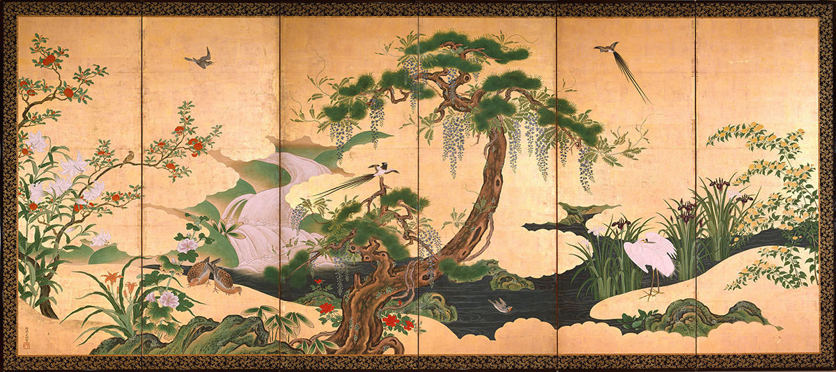 Birds and Flowers of Spring and Summer, Kanō Einō