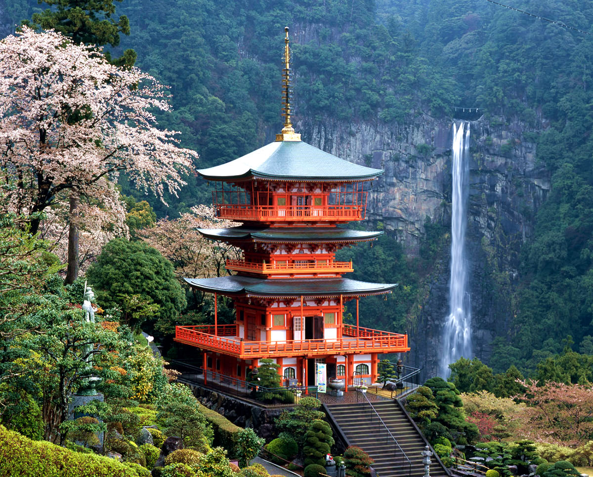 Nachi Waterfall, one of the sacred place Shinto and Buddhism of Japan