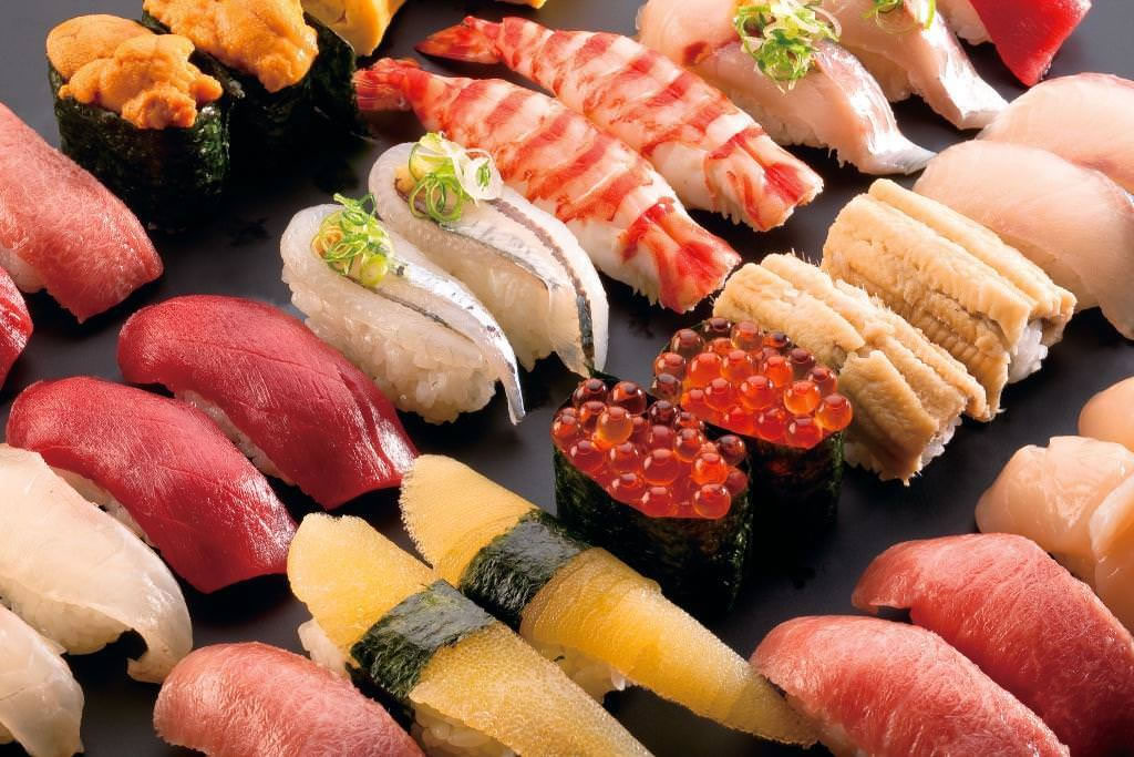 Sushi uses wide variety of fish and seafoods