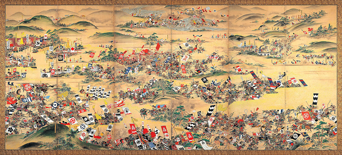 Various Kamon can be seen in the Battle of Sekigahara