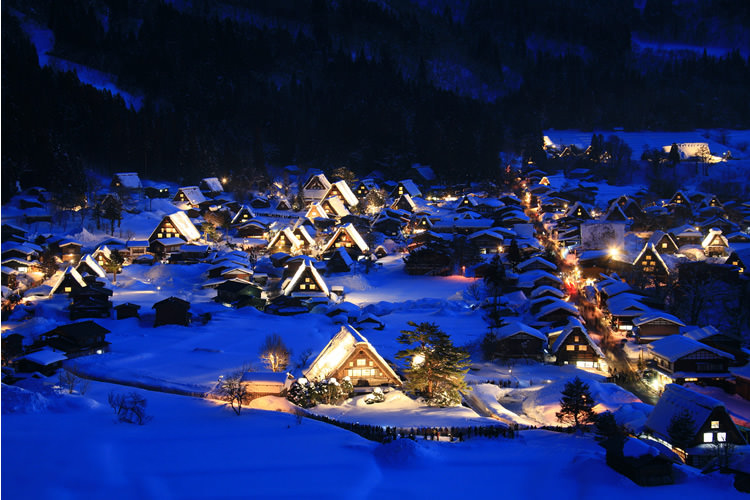 Night view of Shirakawago